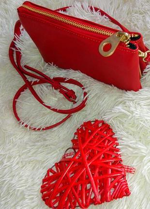 Красивая фирменная сумка - клатч - кроссбоди zara basic collection