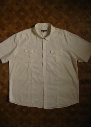 61ae71a607f Мужская рубашка - большой размер - батал - лён - george - размер xxxl - 56