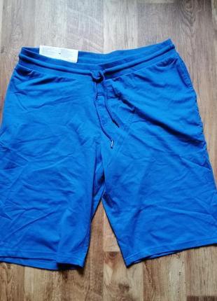Мужские комфортные шорты синего цвета