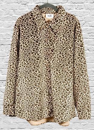 Леопардовая рубашка оверсайз, свободная рубашка с леопардовым принтом