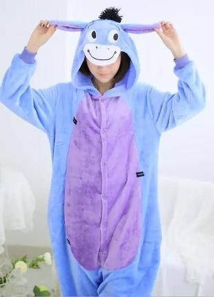 Кингуруми ослик, панда, кот чи, стич фиолетовый s - xl