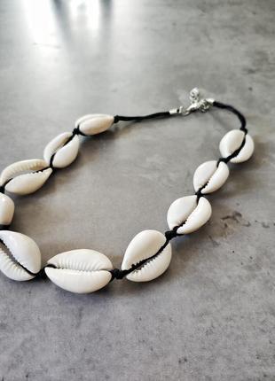 Чокер из ракушек, ожерелье из ракушек