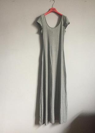 Платье макси , длинное в пол , вискоза , в полоску , полосатое