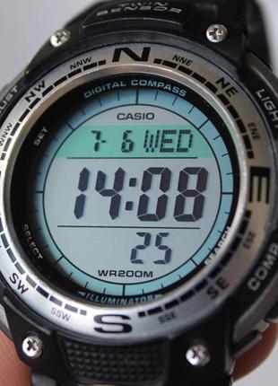 Часы casio sgw 100 оригинал компас, термометр