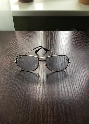 Винтажные очки с голубыми линзами