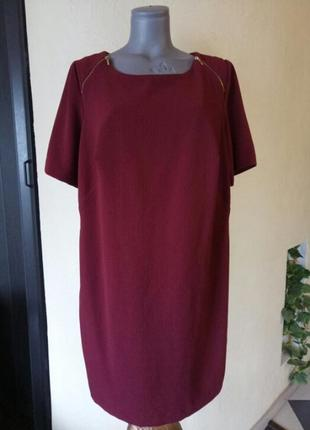 Финальная распродажа!платье батал,трендовый цвет《красная груша》