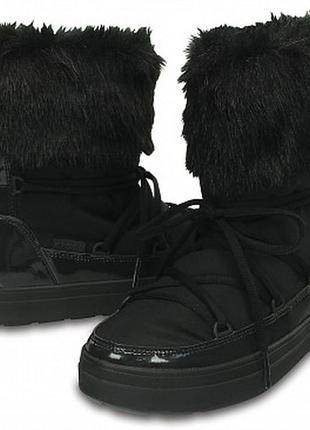 Зимние сапоги crocs lodgepoint lace, w6