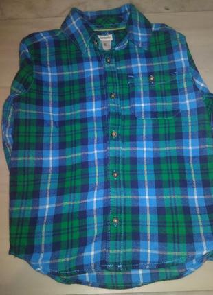 Рубашка carter 's в клетку на мальчика.1 фото