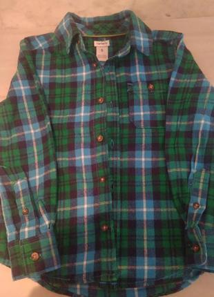 Рубашка carter 's в клетку на мальчика.3 фото