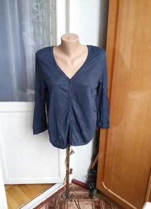 Базовый льняной кардиган с шелковой спиной bc / 100% лен, 100% шелк