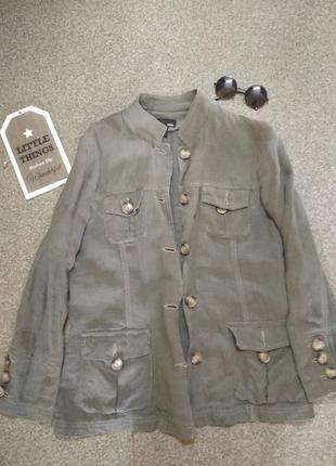Льняной пиджак-френч. h&m.