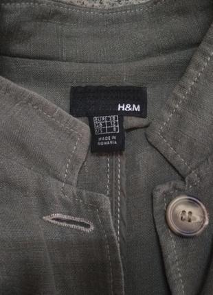 Льняной пиджак-френч. h&m.2 фото