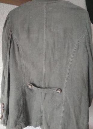 Льняной пиджак-френч. h&m.3 фото