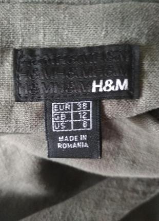 Льняной пиджак-френч. h&m.4 фото