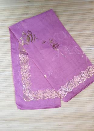 Полупрозрачный платок принт цветы