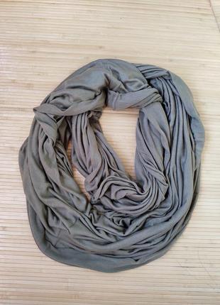 Широченный трикотажный  снуд / шарф труба
