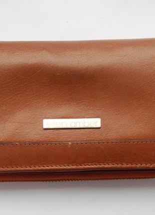 Ellen amber  кожаный кошелек рыжий коричневый