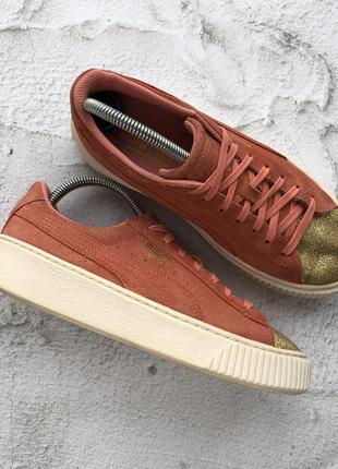 Оригинальные кроссовки puma suede platform