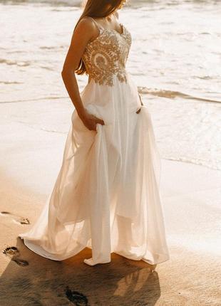 Платье белое выпускное, вечернее, свадебное