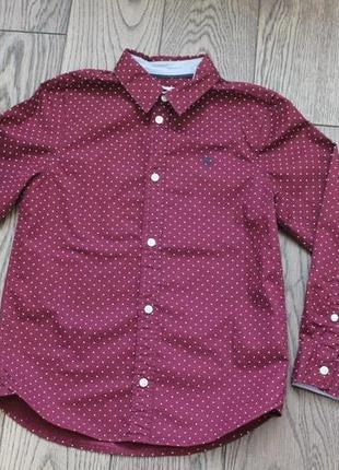Новая хлопковая рубашка для мальчика н&m,р.128,7-8 лет1 фото