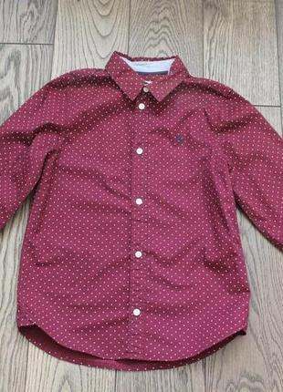 Новая хлопковая рубашка для мальчика н&m,р.128,7-8 лет2 фото