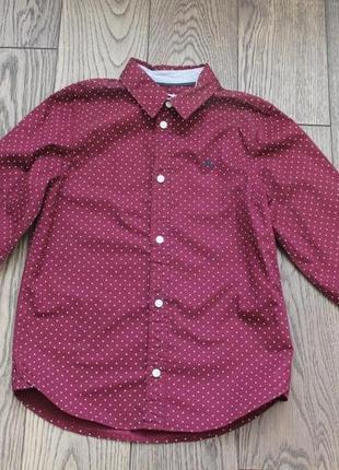 Новая хлопковая рубашка для мальчика н&m,р.128,7-8 лет3 фото
