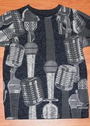 Футболка с микрофонами next,некст,110,116,4-5 лет