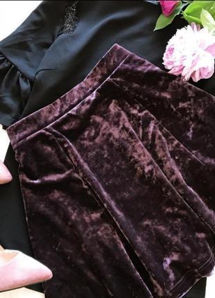 Шикарная сливовая юбка