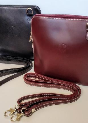 Сумочка кроссбоди сумка vera pelle клатч кожа10 фото