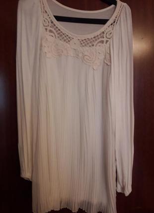 Блуза плиссе на выход