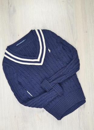 Синій светр в коси ralph lauren оригінал
