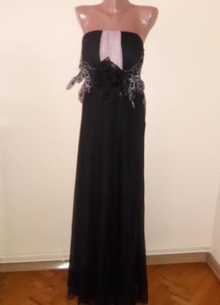 Вечернее выпускное фатиновое платье в пол макси
