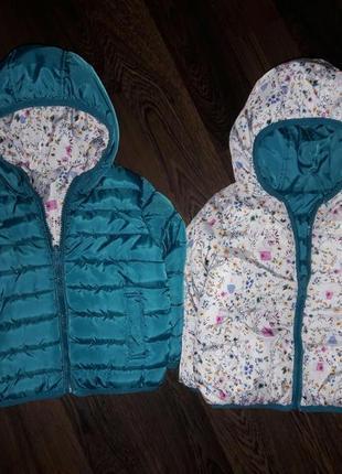 Куртка двухсторонняя дутая matalan на 1,5-2 года