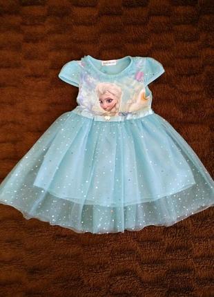 Платье с принцессой эльзой
