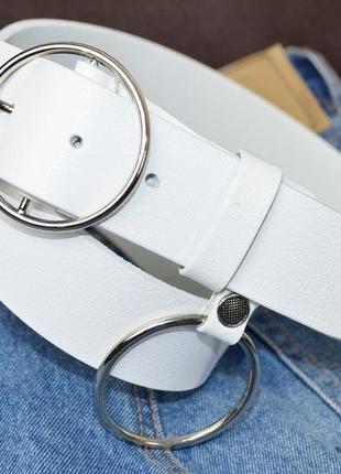 Кожаный ремень с кольцом новинка