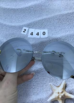 Круглые серые солнцезащитные очки  к. 2440