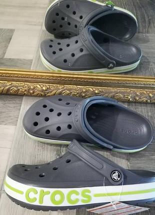 Сланцы тапочки кроксы bayaband crocs charcoal оригинал
