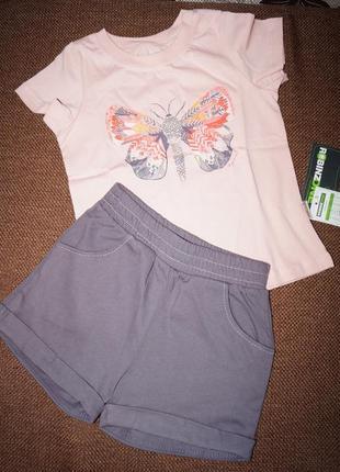 Летний костюм шорты и футболка 116,122,128