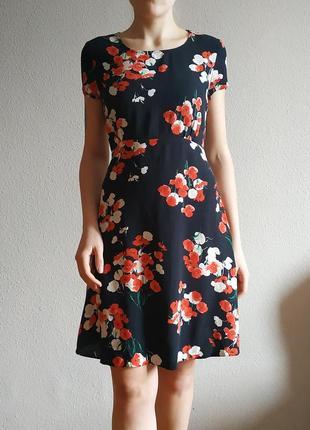 Платье цветочный принт весенее