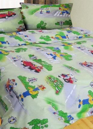 Постельное белье в кроватку кот леопольд