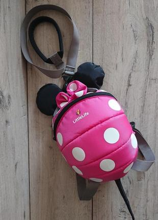 Рюкзак для малышей disney pink minnie mouse с поводком little life