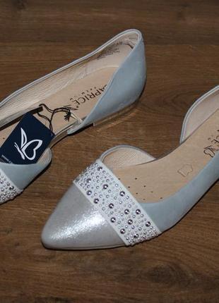 Кожаные туфли с амортизацией caprice walking on air