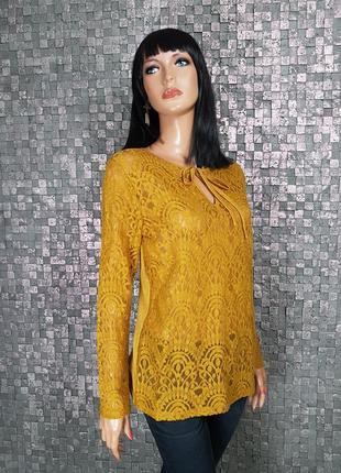 Красивая горчичная блузочка
