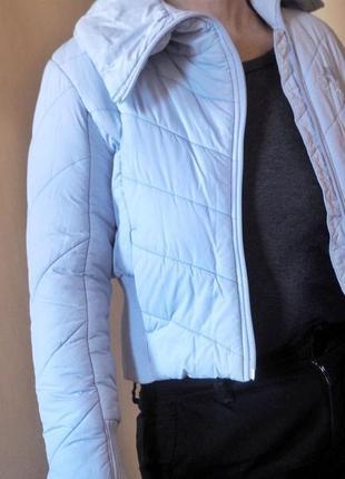 Детская куртка серо-голубого цвета