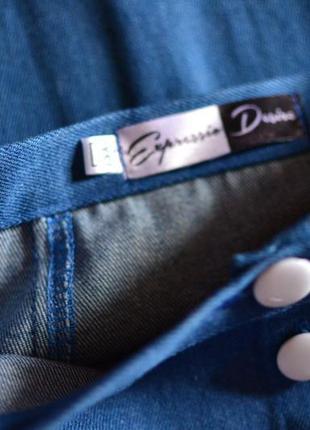 Классическая джинсовая юбка миди7