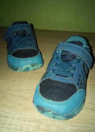 Детские синие кроссовки hummel 24р