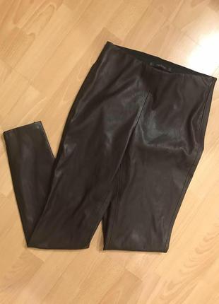 Кожаные штаны zara кожаные брюки zara кожаные лосины zara