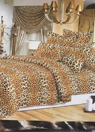 Постельное бельё бязь леопард