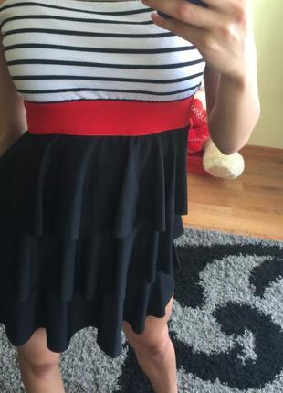 Платтячко з червоною резинкою