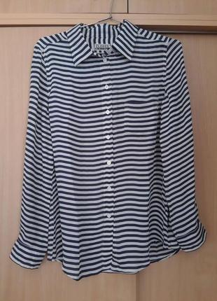Красивая стильная 100% шелк сорочка рубашка блузка closed. оригинал